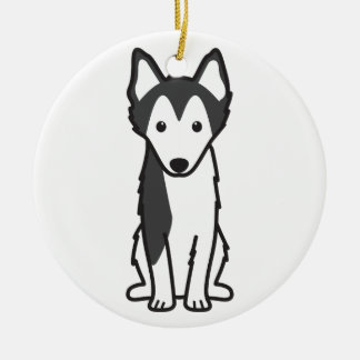 Alaskan Klee Kai Dog Cartoon Christmas Ornament
