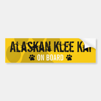 Alaskan Klee Kai on Board Bumper Sticker