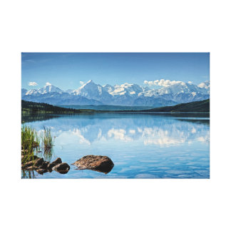 Alaskan Landscape Wonder Lake with Mt Denali Canvas Print