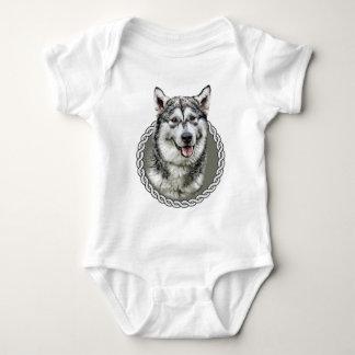 Alaskan Malamute 001 Baby Bodysuit