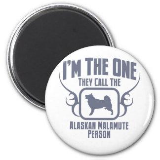 Alaskan Malamute 6 Cm Round Magnet