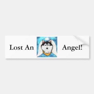 Alaskan Malamute Angel Bumper Sticker