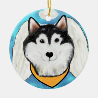 Alaskan Malamute Angel Christmas Ornament