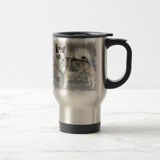 Alaskan Malamute Art Gifts Travel Mug
