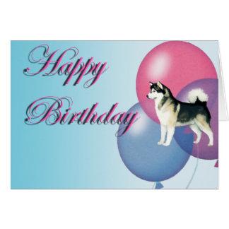 Alaskan Malamute Birthday Card