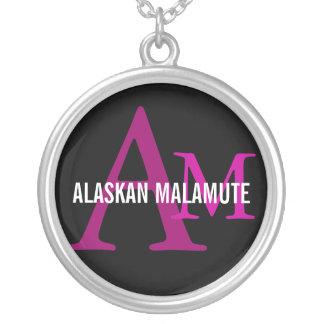 Alaskan Malamute Breed Monogram Custom Jewelry