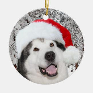 Alaskan Malamute Christmas Christmas Ornament