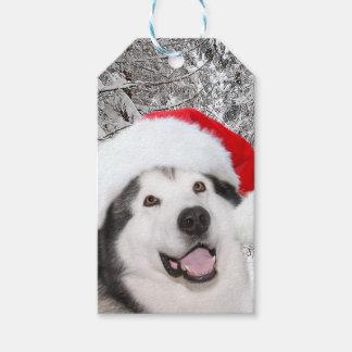 Alaskan Malamute Christmas Gift Tags