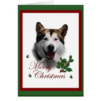 Alaskan Malamute Christmas Gifts Cards