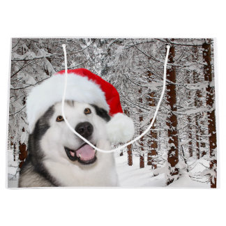 Alaskan Malamute Christmas Large Gift Bag