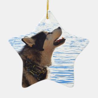 Alaskan Malamute Christmas Ornament