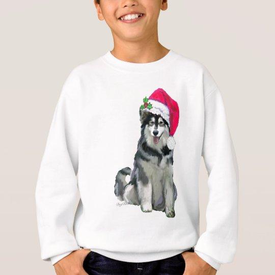 alaskan malamute Christmas Sweatshirt