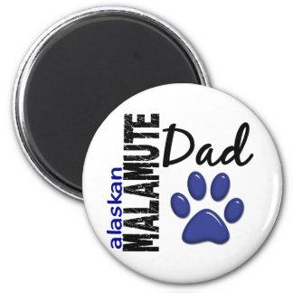 Alaskan Malamute Dad 2 Fridge Magnets