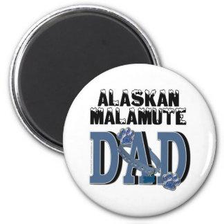 Alaskan Malamute DAD 6 Cm Round Magnet