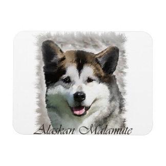 Alaskan Malamute Dog Art Vinyl Magnet