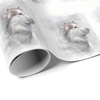 Alaskan Malamute dog Wrapping Paper