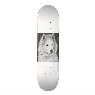 Alaskan Malamute Drawing Skate Board Decks