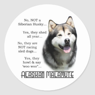Alaskan Malamute FAQ Sticker