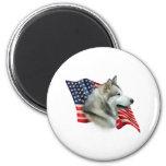 Alaskan Malamute Flag Fridge Magnet