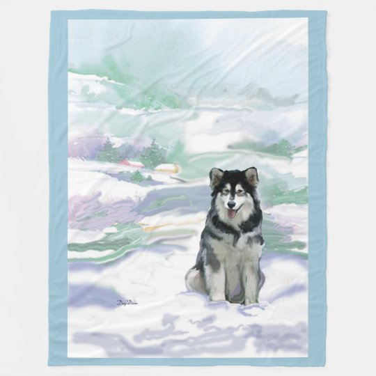 Alaskan Malamute Fleece blanket