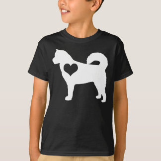 Alaskan Malamute Heart Dark Kids T-Shirt