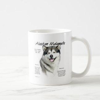 Alaskan Malamute History Design Basic White Mug