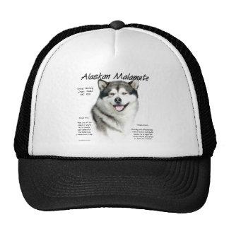 Alaskan Malamute History Design Hats