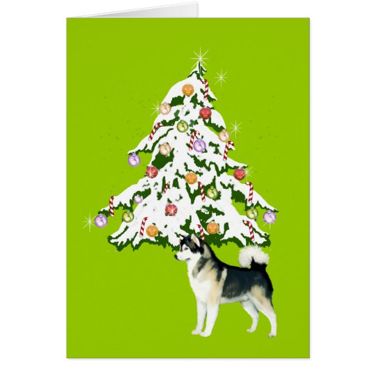 Alaskan Malamute Holiday Card