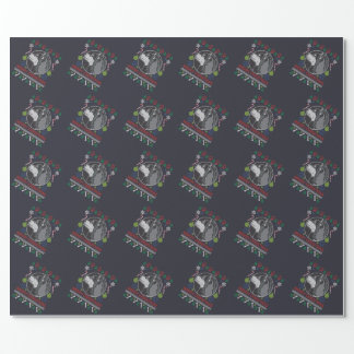 Alaskan Malamute Merry Christmas Ugly Sweater Wrapping Paper