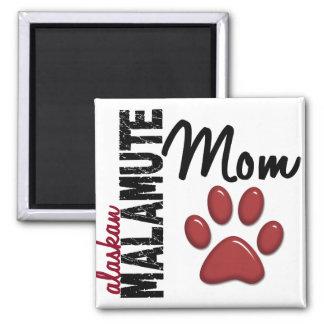 Alaskan Malamute Mom 2 Square Magnet