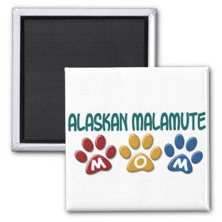 ALASKAN MALAMUTE MOM Paw Print Refrigerator Magnet