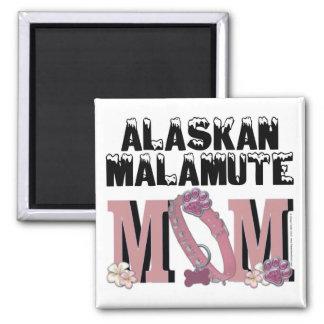 Alaskan Malamute MOM Square Magnet