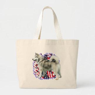 Alaskan Malamute Patriot Tote Bag
