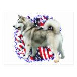 Alaskan Malamute Patriot Post Cards