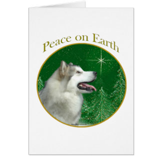 Alaskan Malamute Peace Greeting Card