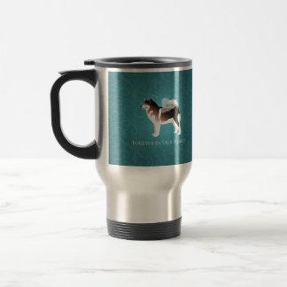 Alaskan Malamute Pet Loss Design Stainless Steel Travel Mug