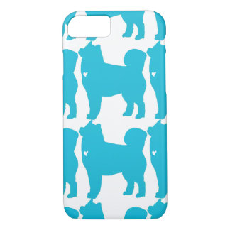 Alaskan Malamute pop dog art silhouette with heart iPhone 7 Case