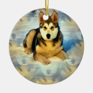 Alaskan Malamute Puppies Ornament
