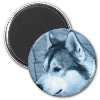 Alaskan Malamute Round Magnet Refrigerator Magnet