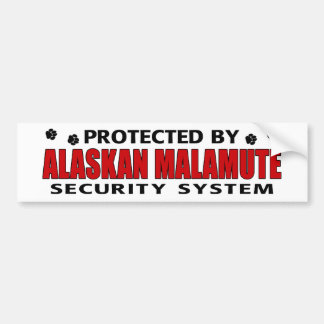 Alaskan Malamute Security Bumper Sticker