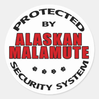 Alaskan Malamute Security Classic Round Sticker