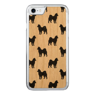 Alaskan Malamute Silhouettes Pattern Carved iPhone 7 Case