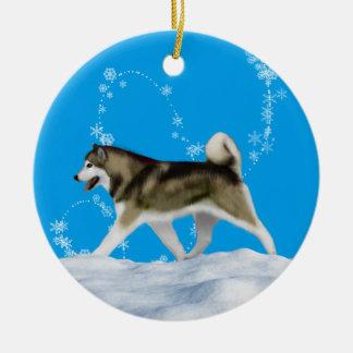 Alaskan Malamute Snowflake Ornament