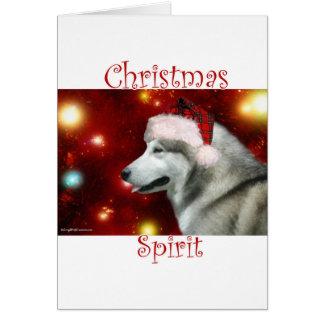 Alaskan Malamute Spirit Greeting Card