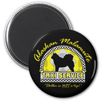 Alaskan Malamute Taxi Service Magnet