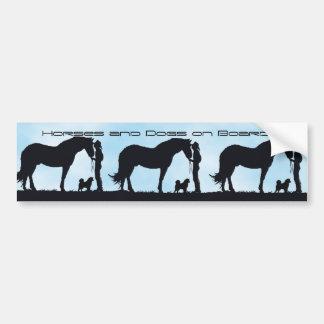 Alaskan Malamute Western Silhouette Bumper Sticker
