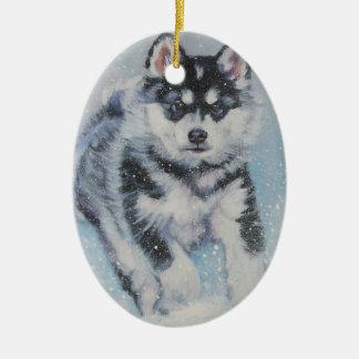 ALASKAN MALAMUTE xmas ornament