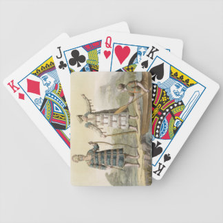 Alaskan man and woman (colour engraving) bicycle playing cards