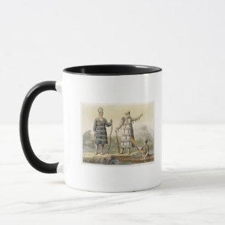 Alaskan man and woman (colour engraving) mug