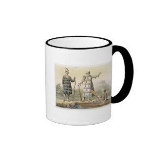 Alaskan man and woman (colour engraving) mugs